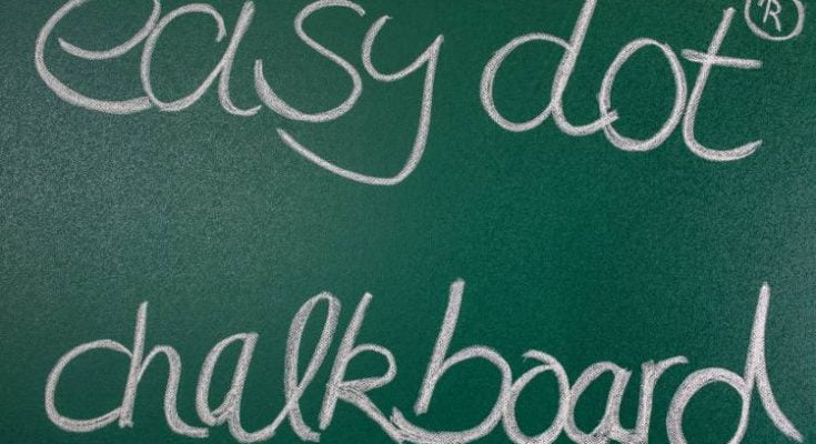 easy dot chalkboard green 4
